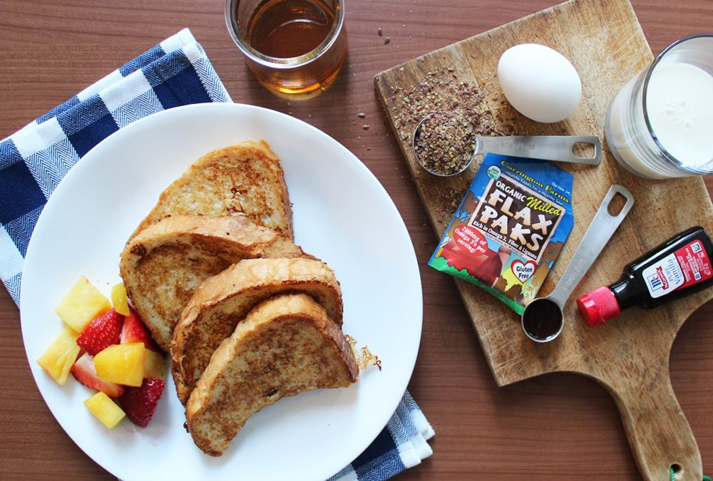 Low-FODMAP Vanilla Flax French Toast Recipe
