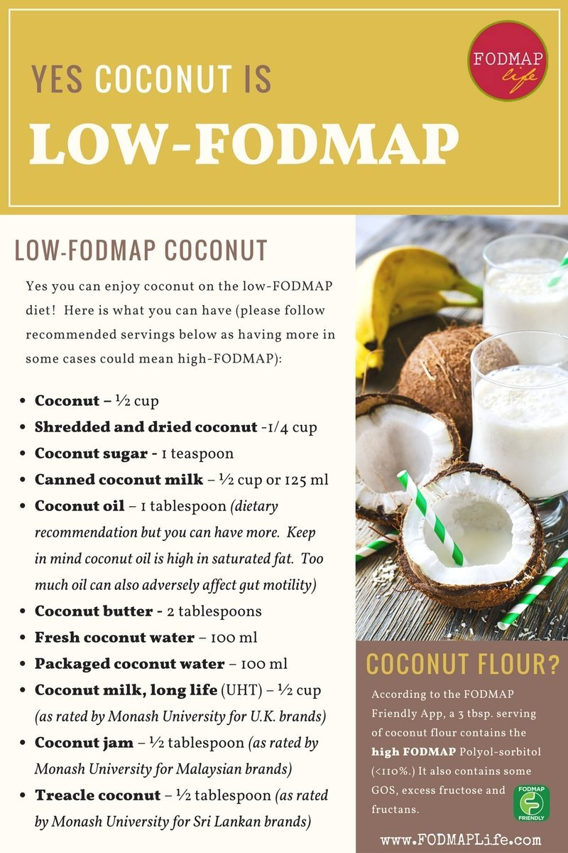 low fodmap coconut