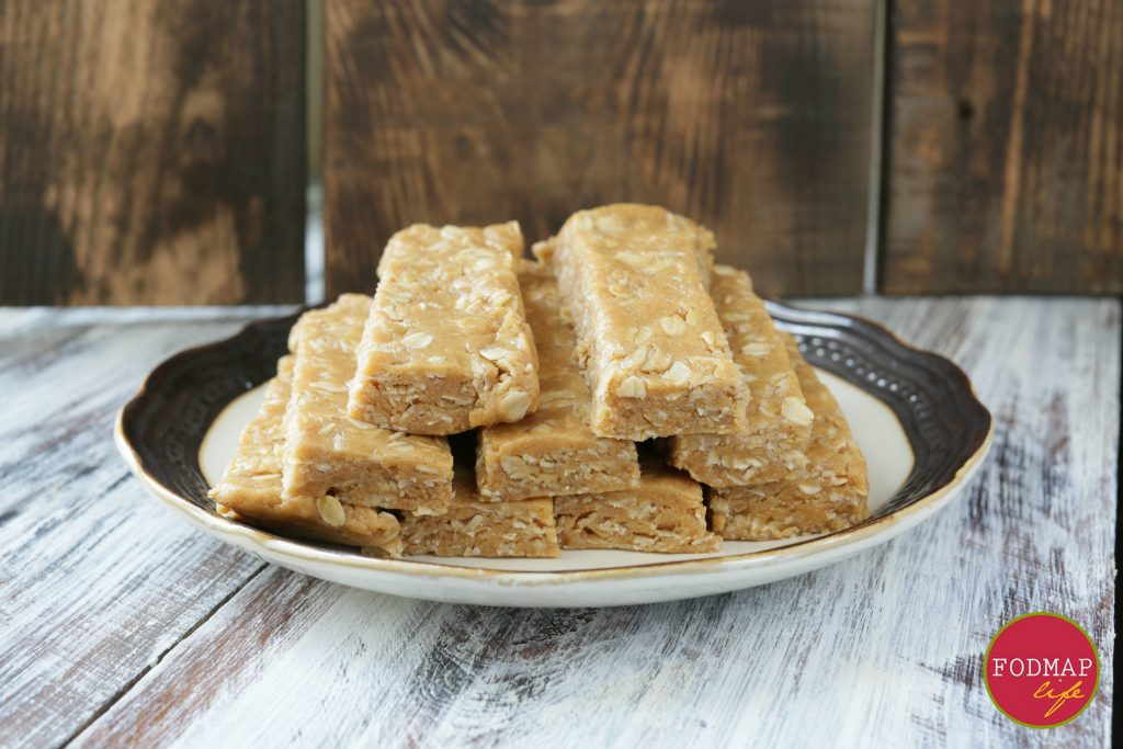 low fodmap no bake peanut butter protein bars2
