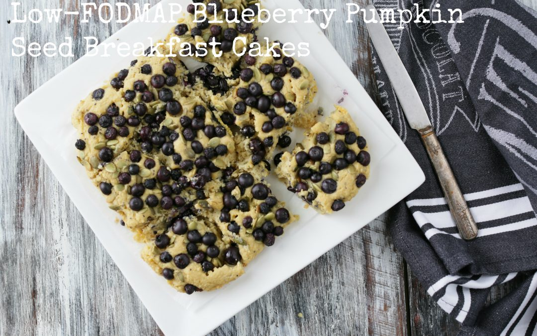 Low-FODMAP Blueberry Pumpkin Seed Breakfast Cakes