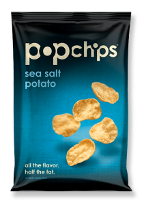 Low-Fodmap gluten free Popchips potato chips seasalt