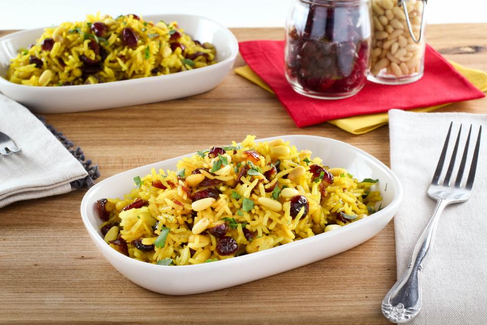 Turmeric rice with cranberries
