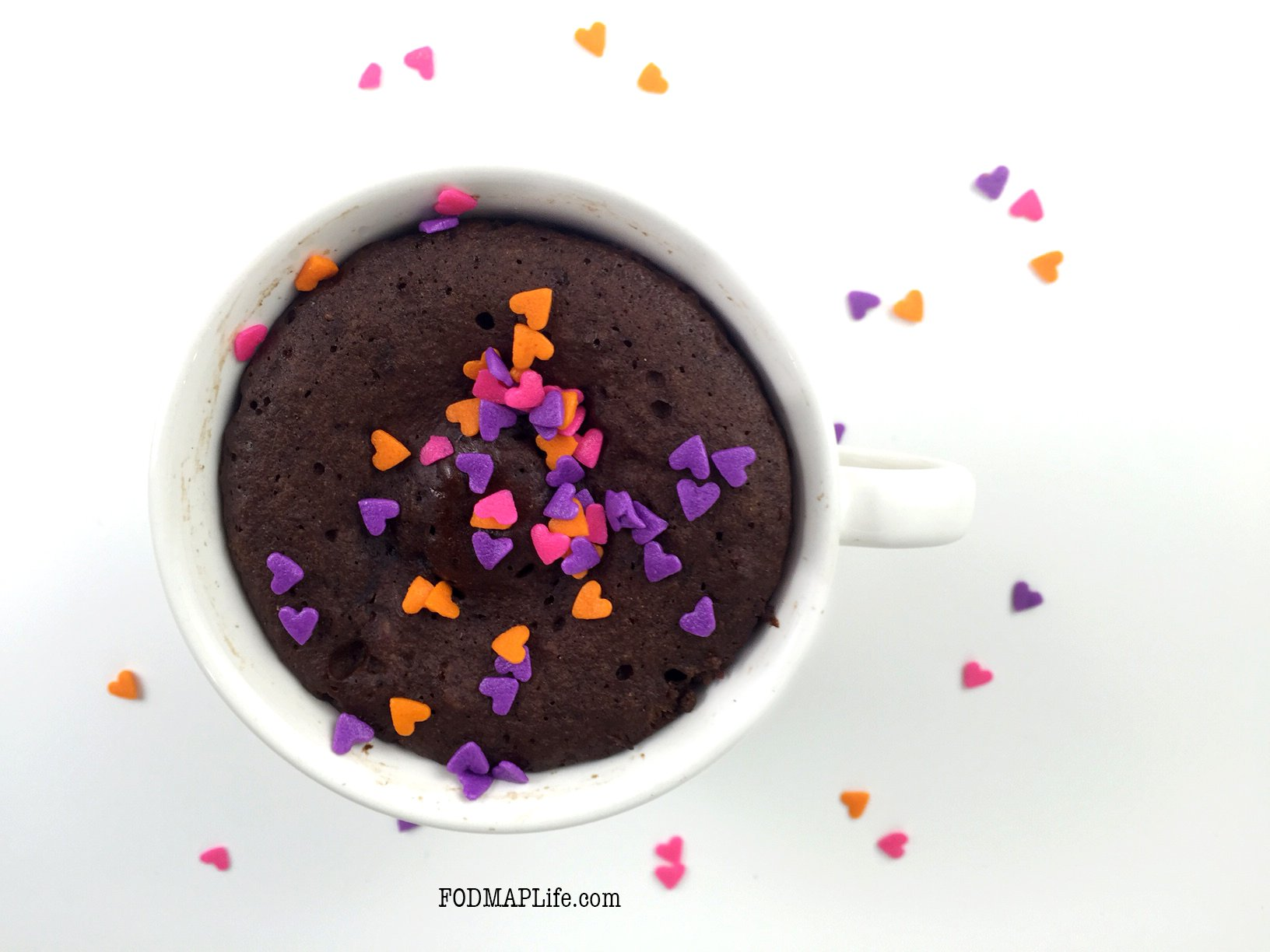 Low-FODMAP Chocolate Peanut Butter Mug Cake