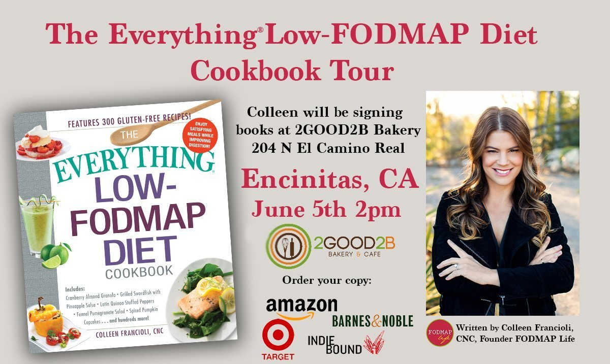 Spread the News!  Low-FODMAP Book Signing in N. County San Diego