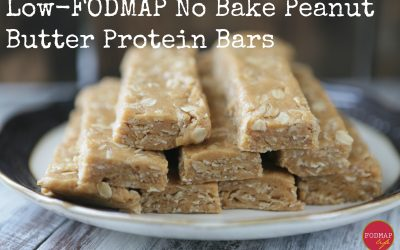 Low-FODMAP No Bake Peanut Butter Protein Bars