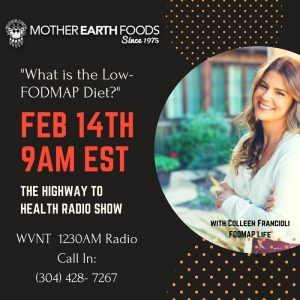 Colleen Francioli from FODMAP Life on The Highway Health Radio Show