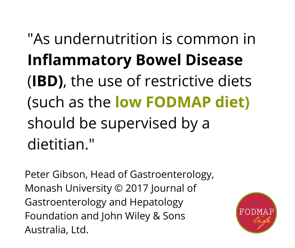 inflammatory bowel disease low fodmap