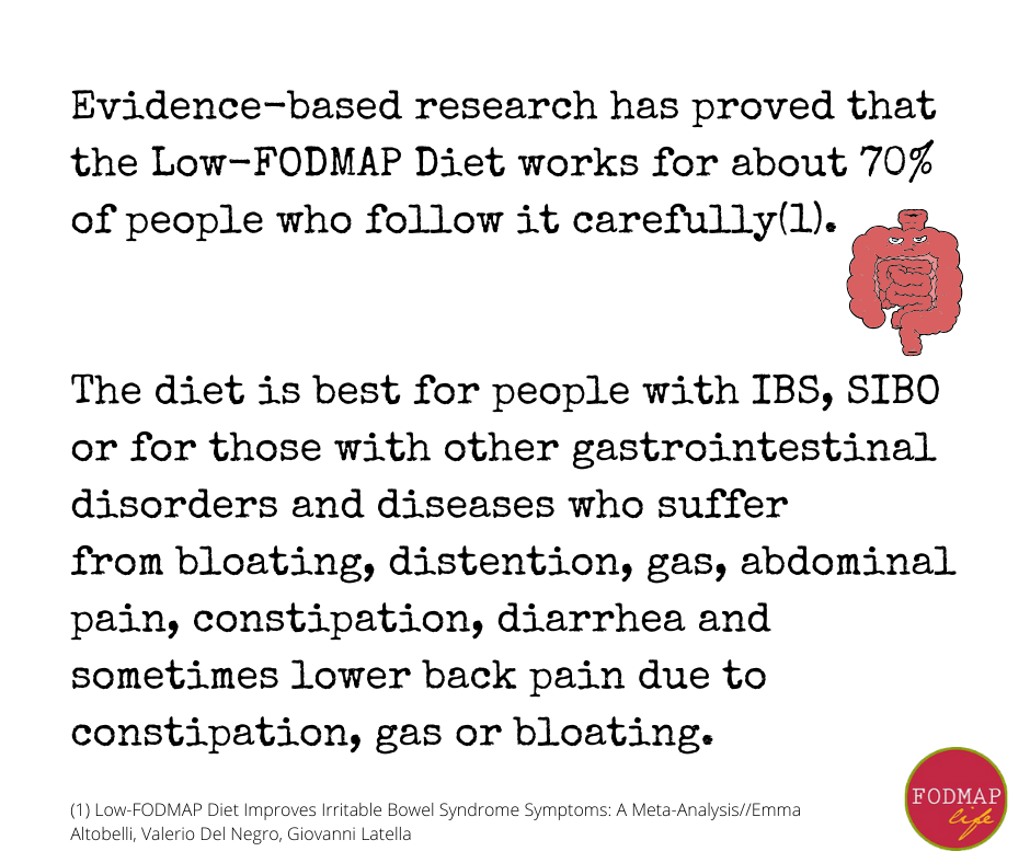 low fodmap diet works for 70% of people